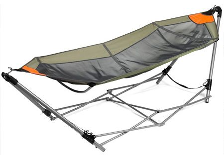 The Guide Gear Hammock also comes with a carry bag with backpack-style  shoulder straps for ultimate portability. Get it now for only $36.98 - Guide Gear Portable Folding Hammock NWOAA